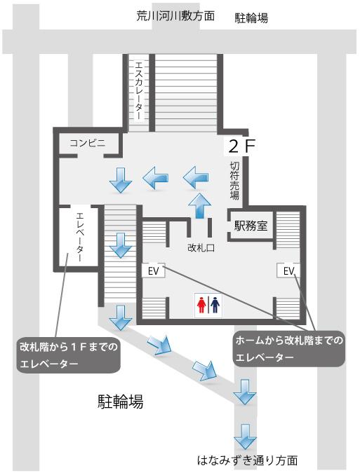 八広駅構内図