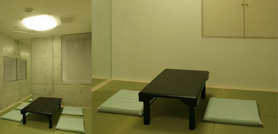 和室(親族用4.5畳・僧侶用3畳)お通夜当日はご宿泊頂けます。